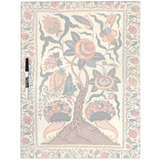 Tree with Flowers and Horns of Plenty, India 1750 Dry Erase White Board