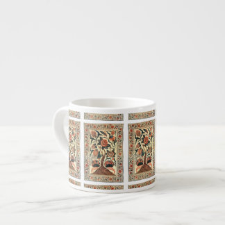 Tree with Flowers and Horns of Plenty, India 1750 Espresso Cup