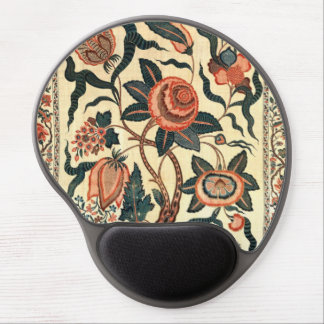 Tree with Flowers and Horns of Plenty, India 1750 Gel Mouse Pad