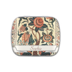 Tree with Flowers and Horns of Plenty, India 1750 Jelly Belly Candy Tins at Zazzle
