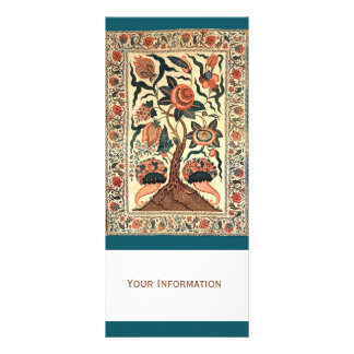 Tree with Flowers and Horns of Plenty, India 1750 Rack Card