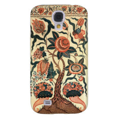 Tree with Flowers and Horns of Plenty, India 1750 Samsung S4 Case at Zazzle