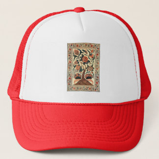 Tree with Flowers and Horns of Plenty, India 1750 Trucker Hat