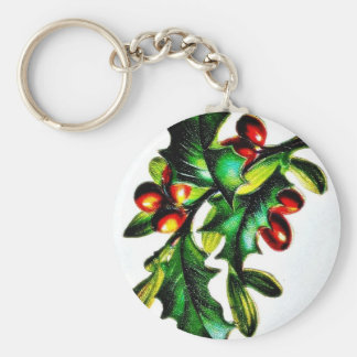 tree with fruits key chain