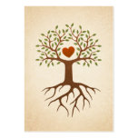 Tree with heart and roots large business cards (Pack of 100)