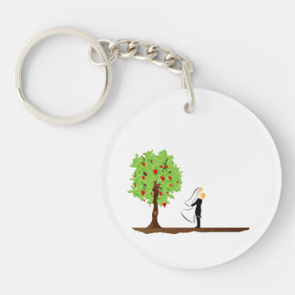 tree with heart fruit and married couple.png keychain