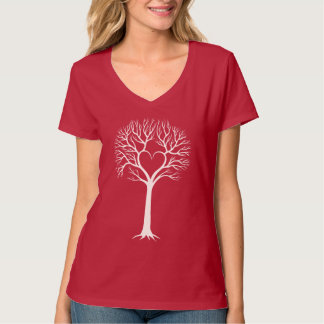 Tree with heart Ladies shirt