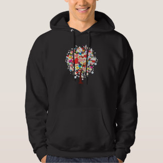 Tree With Heart Shaped Leaves Mens Hoodie