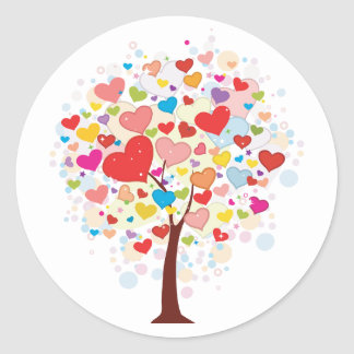 Tree With Heart Shaped Leaves Stickers