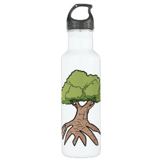Tree With Long Roots Water Bottle