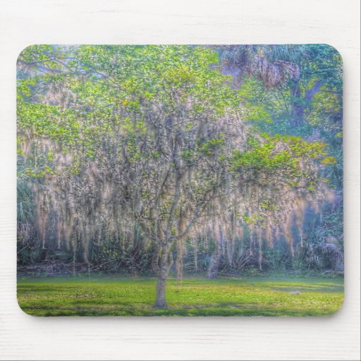 Tree With Moss Mouse Pad