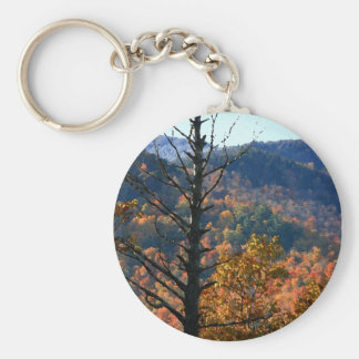 Tree with mountains - Adirondacks key chain