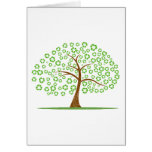 tree with recycle for leaves eco design.png stationery note card