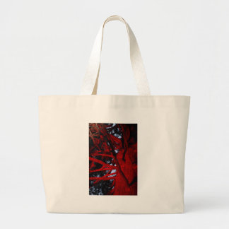 TREE WITH RED LIGHT GLOWING HOBART AUSTRALIA JUMBO TOTE BAG