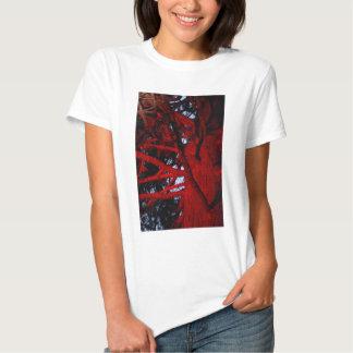 TREE WITH RED LIGHT GLOWING HOBART AUSTRALIA TEE SHIRTS