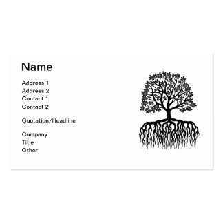 Tree with roots business card