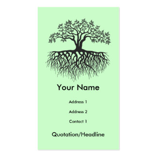 Tree with roots Double-Sided standard business cards (Pack of 100)