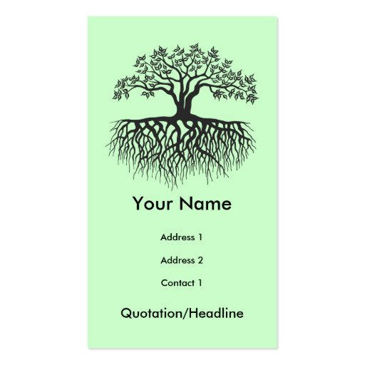 Tree with roots business cards