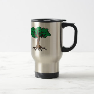TREE WITH ROOTS 15 OZ STAINLESS STEEL TRAVEL MUG