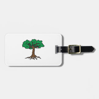 TREE WITH ROOTS TAG FOR LUGGAGE