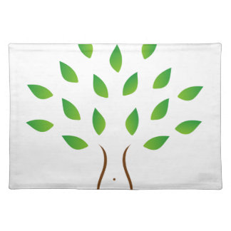 Tree with slim figure showing weight loss cloth placemat