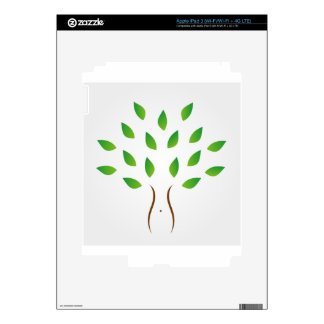 Tree with slim figure showing weight loss decals for iPad 3