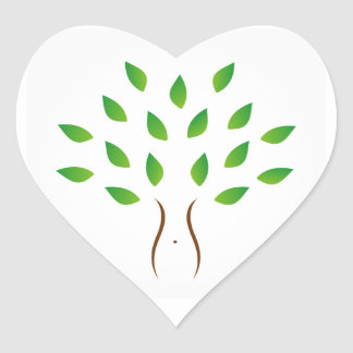 Tree with slim figure showing weight loss heart sticker