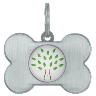 Tree with slim figure showing weight loss pet name tag