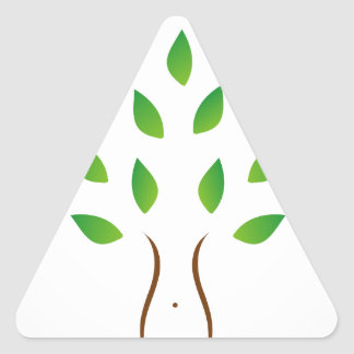 Tree with slim figure showing weight loss triangle sticker