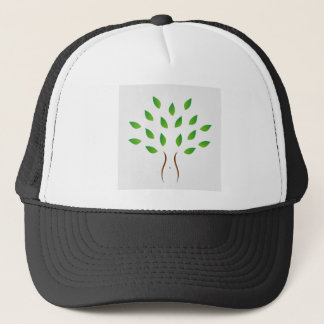 Tree with slim figure showing weight loss trucker hat