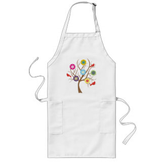 Tree with snowflakes and cardinals custom long apron