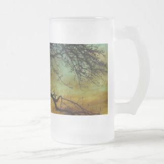 Tree with Sunset Backdrop Scene Mug