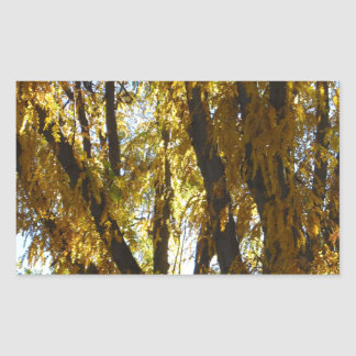 Tree with Yellow Leaves Rectangular Sticker