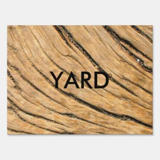 Tree Woodgrain Sign