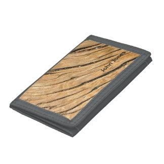 Tree Woodgrain Tri-fold Wallets