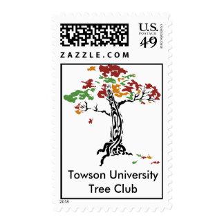 TreeClub_4color, club de Towson UniversityTree Estampillas
