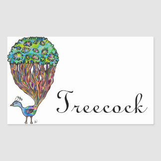 Treecock Rectangular Sticker