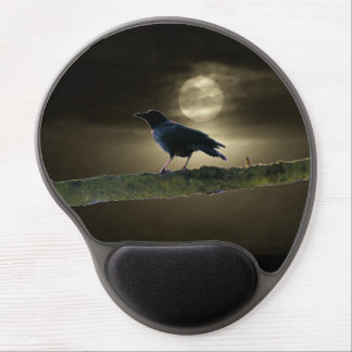 Treed Black Crow By Moonlight Gel Mouse Pad