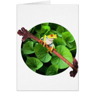 Treefrog Tarjeta De Felicitación