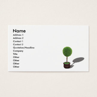 TreeGreenCard, Name, Address 1, Address 2, Cont... Business Card