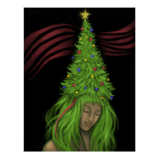Treehead Painting Christmas Poster