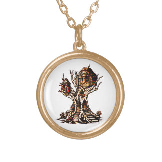 Treehouse 2 gold plated necklace