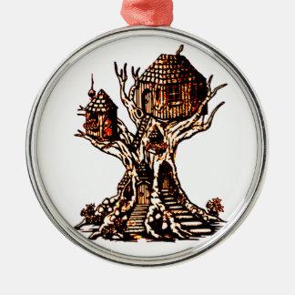 Treehouse 2 metal ornament