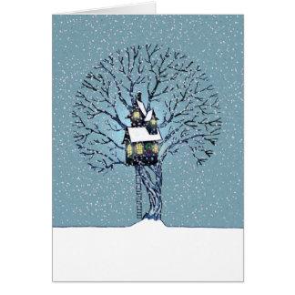 Treehouse Christmas Card