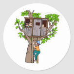 Treehouse Classic Round Sticker