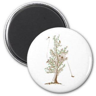 Treehouse Fridge Magnets