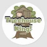 Treehouse King Tshirts and Gifts Classic Round Sticker
