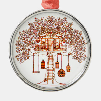 Treehouse Metal Ornament