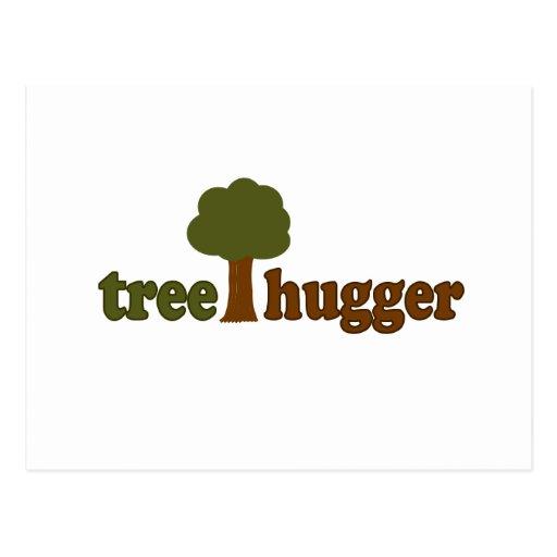 Treehugger (árbol) postales