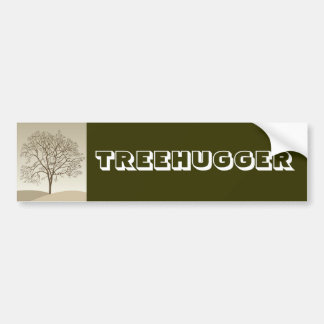 Treehugger Car Bumper Sticker